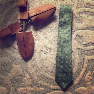Men's Green Silk Tie
